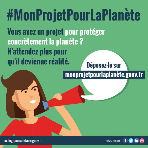 n'attendez plus si vous avez un projet pour sauver la planete