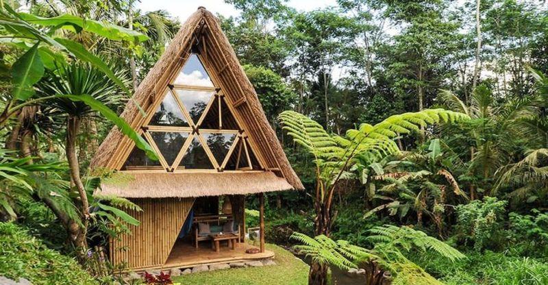 Vue terrasse et façade vitrée - Hideout par Jarmil Lhotak - Alena Fibichova - Bali, Indonesie © Fibichova