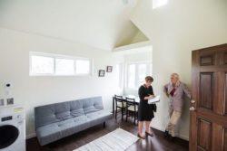 Mini salon-salle séjour - Tiny-House par CCSS - Detroit, USA © jetsongreen
