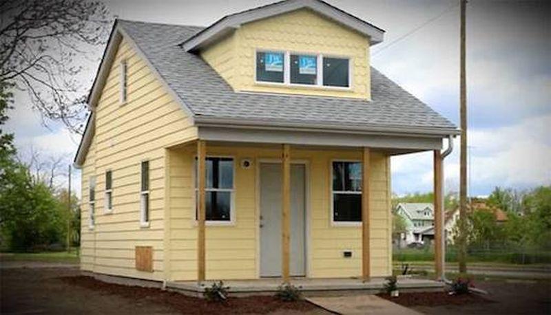 Vue d'ensemble d'une petite maison - Tiny-House par CCSS - Detroit, USA © jetsongreen