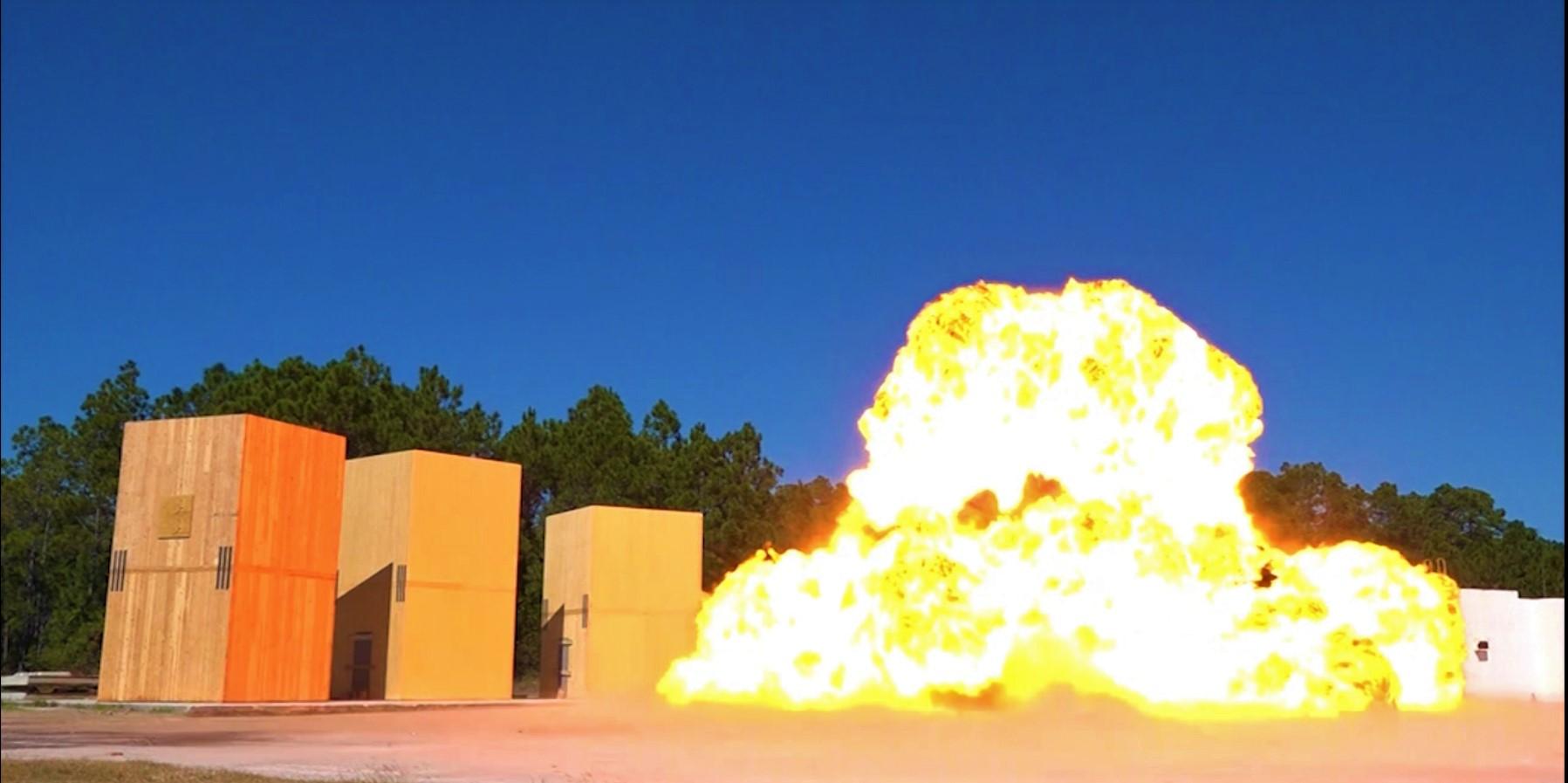 Tests d'explosion réalisés en 2016