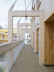 balcon coursive - The-Wooden Box-House par SPRIDD architecs- Suède ©MikaelOlsson