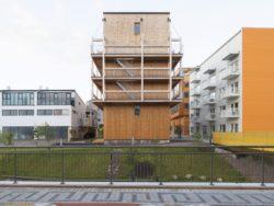 côté jardin - The-Wooden Box-House par SPRIDD architecs- Suède ©MikaelOlsson