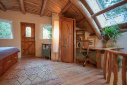 chambre et bureau - Cob cottage par Cobworks - Canada
