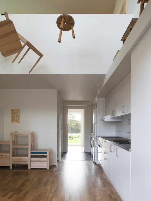 cuisine - The-Wooden Box-House par SPRIDD architecs- Suède ©MikaelOlsson