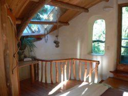 mezzanine - Cob cottage par Cobworks - Canada