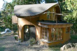 vue extérieure - Cob cottage par Cobworks - Canada