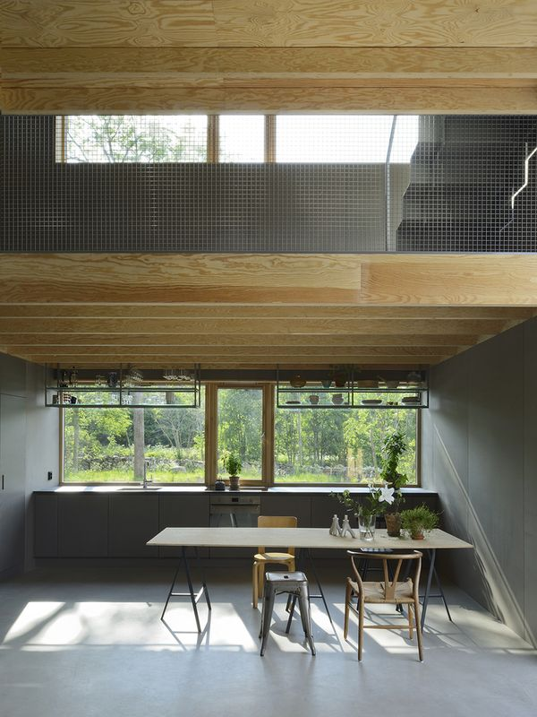 Cuisine et salle séjour - House-Drummer par Bornstein Lyckefors - Karna, Suede © Mikael Olsson