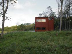 Vue site en pleine nature - House-Drummer par Bornstein Lyckefors - Karna, Suede © Mikael Olsson