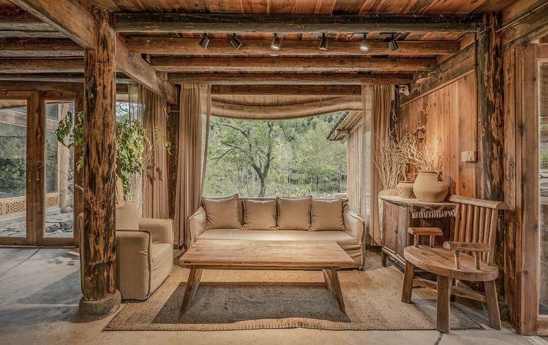 Espace salon de thé - Springstream-House par WEI architects - Fuding, Chine © Weiqi Jin