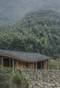 Façade principale et vue paysage - Springstream-House par WEI architects - Fuding, Chine © Weiqi Jin