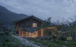 Terrasse illuminée et jardin - Springstream-House par WEI architects - Fuding, Chine © Weiqi Jin
