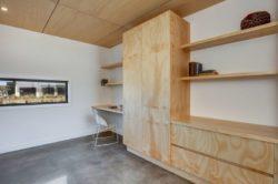 Armoire salon et mini bureau - Core 9 par Beaumont Concepts - Cape Paterson, Australie © Warren Reed