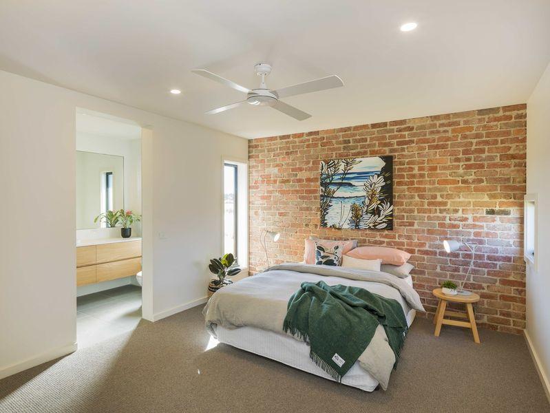 Chambre principale - Core 9 par Beaumont Concepts - Cape Paterson, Australie © Warren Reed