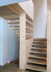 Escalier bois - Magnificent-House-Brussels par Samyn And Partners