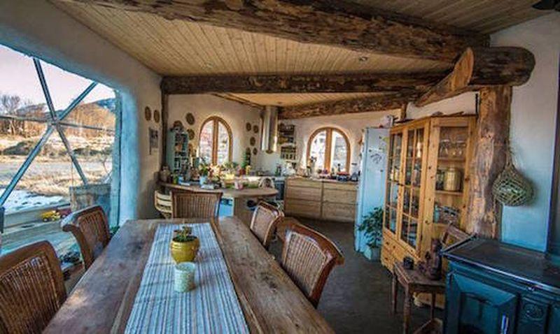 Pièce de vie Nature-House par Solardome - Sandhornoya, Norvege