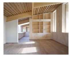 murs en bois et poutres charpente - Magnificent-House-Brussels par Samyn And Partners