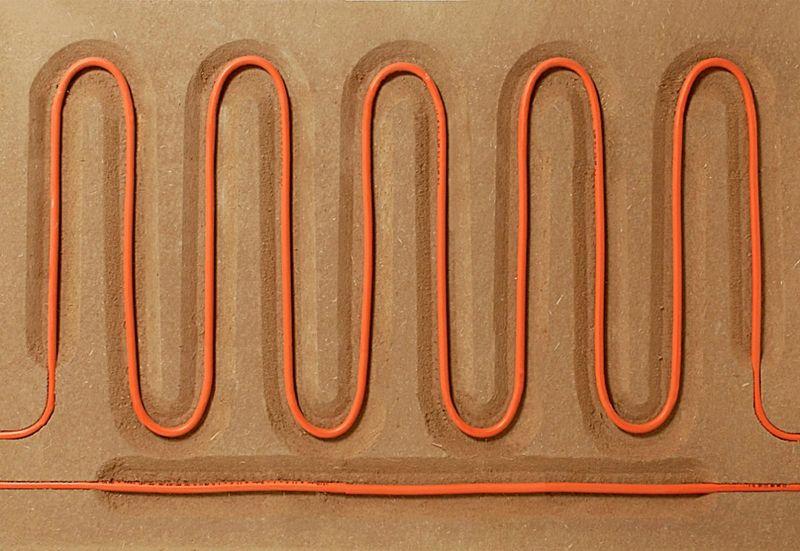 système de murs chauffants terre cuit - Heated Clay Wall par Silke Stevens - Londres, Angleterre