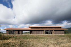 Façade principale - Trout-Lake-House par Olson Kundig - Washington, USA © Jeremy Bittermann