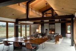 Salle séjour et salon - Trout-Lake-House par Olson Kundig - Washington, USA © Jeremy Bittermann