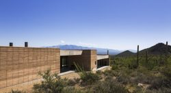 Façade principale - Mountain-Retreat par DUST - Tucson, USA © Jeff Goldberg