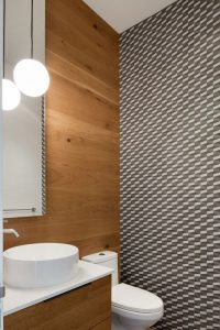 Lavabo salle de bains - High-Altitude-Style par Jane Hope - Saint-Sauveur, Canada © Adrien Williams
