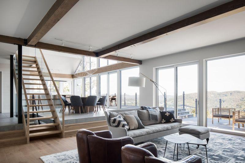 Salon et séjour - High-Altitude-Style par Jane Hope - Saint-Sauveur, Canada © Adrien Williams