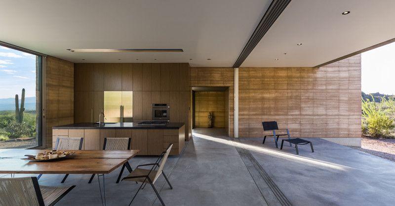 salle séjour et cuisine - Mountain-Retreat par DUST - Tucson, USA © Jeff Goldberg