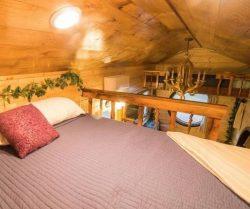 Lit espace chambre - Hobbit-Tiny-House - Colorado, USA © Weecasa