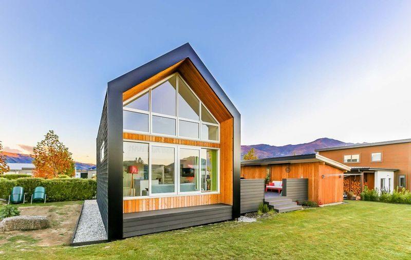 façade principale - Tiny-house-concept - Nouvelle-Zelande, Wanaca © Living Big
