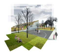 Aire de jeu - The-Zero-Emission-Neighborhood par Architecture-Humans - Prestina, Kosovo