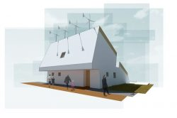 Energie éolien - The-Zero-Emission-Neighborhood par Architecture-Humans - Prestina, Kosovo