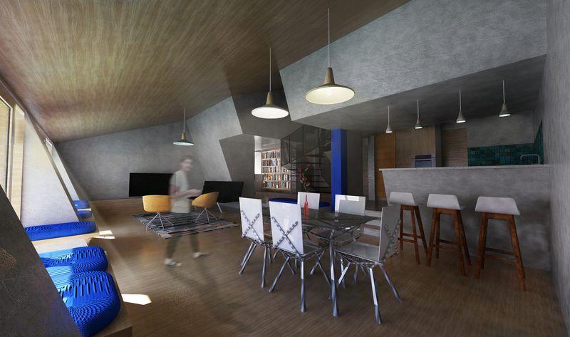 Pièce de vie intérieur maison - The-Zero-Emission-Neighborhood par Architecture-Humans - Prestina, Kosovo