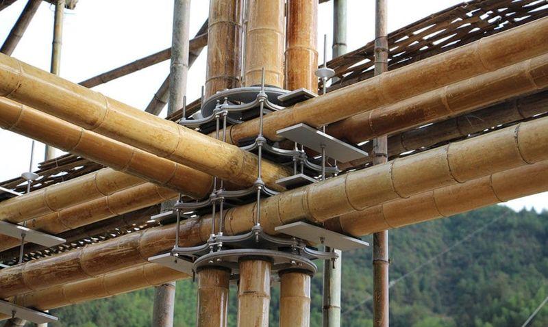 Bambou avec raccord en aluminium - casa-de-bambu par Cardenas de Milan - Zhejiang, Chine © Cardenas de Milan