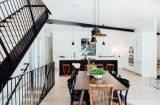 Cuisine et salle séjour - Treehaus par Park-City-Design-Build - Utah, USA © Kerri Fukui