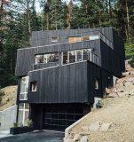 Façade principale - Treehaus par Park-City-Design-Build - Utah, USA © Kerri Fukui