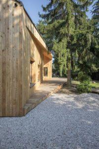 Façade bois extérieure - Casa-CWA par Beczack - Owczarnia, Pologne © Jan Karol Golebiewski