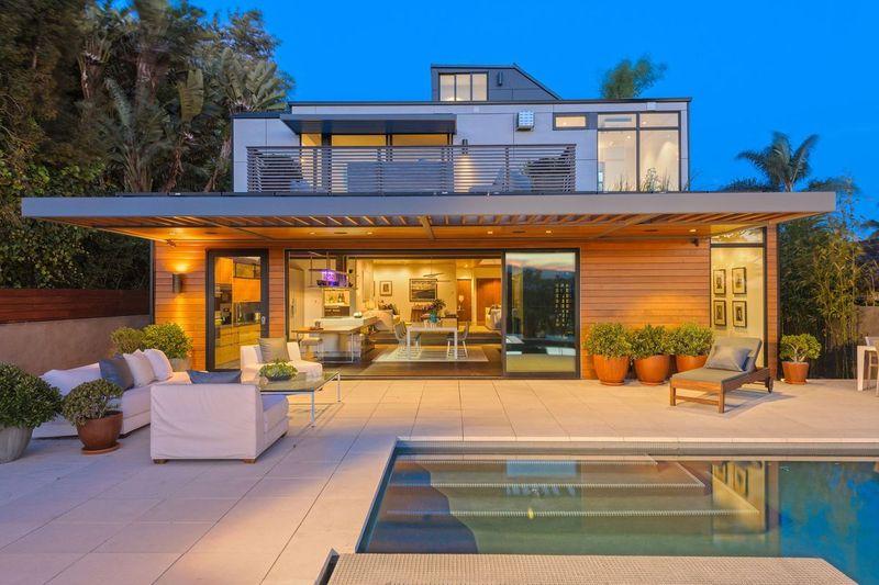 Maison préfabriquées avec piscine - Prefabricate-Homes par Plant-Prefab - Rialto, USA © Plant Prefab