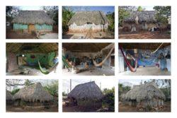 maisons traditionnelles mexicaine avec toit en paille © Onnis Luque