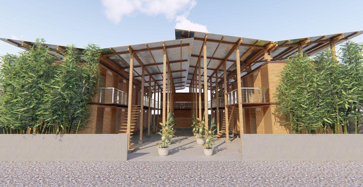cubo la maison en bambou facile construire durable et. Black Bedroom Furniture Sets. Home Design Ideas