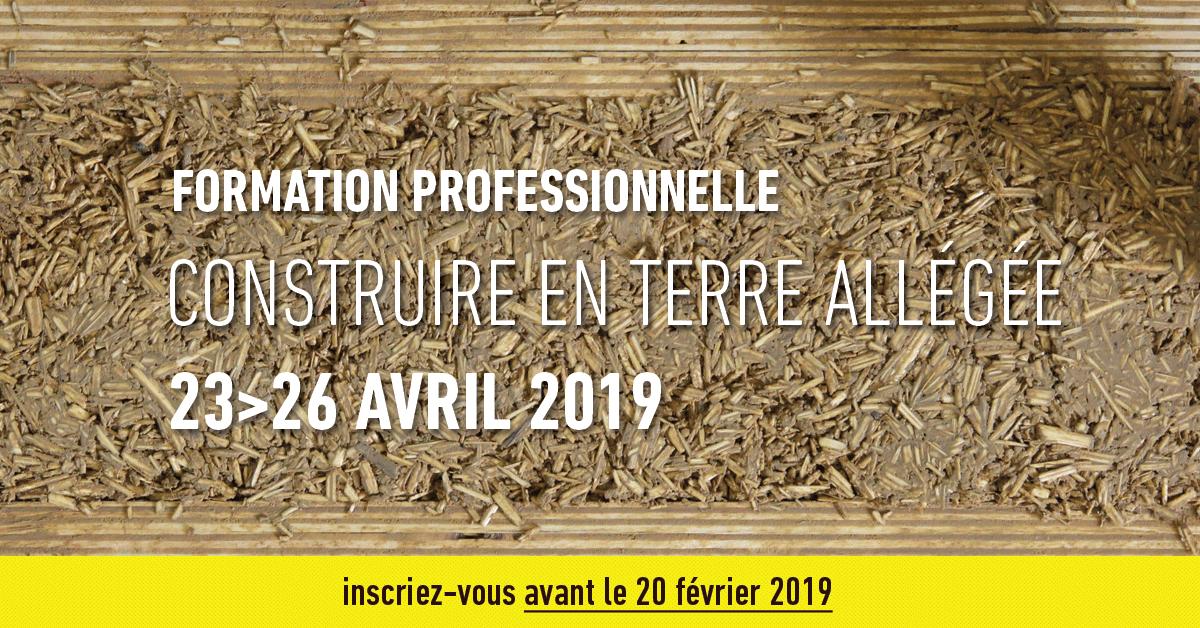 «Formation Professionnelle: Construire en terre allégée (Villefontaine-FR38)»