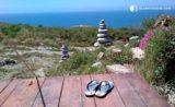 Façade terrasse bois - Beachfront-Containers par David - Lisbonne, Portugal © glampinghub