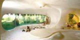 Grance pièce intérieure - Organic-House par Javier Senosiain - Naucalpan de Juarez, Mexique © Cortesia Javier Senosiain