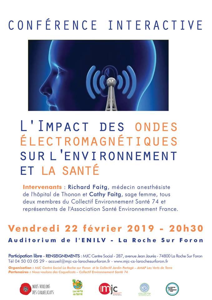 Conférence interactive «L'impact des ondes électromagnétiques sur l'environnement et la santé»