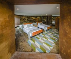 Chambre deux lits - House 8 par TAC Taller - Mexique, Vallee de Guadalupe © Humberto Romero