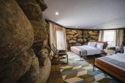 Chambre hôte et façade pierre - House 8 par TAC Taller - Mexique, Vallee de Guadalupe © Humberto Romero