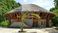 Façade principale - Bamboo building par Rau Arch - Vietnam © Inhabitat