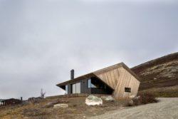 Façade principale - Hooded Cabin par Arkitektværelset - Norvege © Marte Garmann