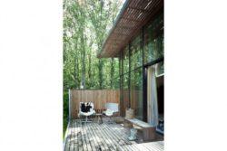 Façade terrasse bois - Dutch Mountain par Sanne Oomen - Goois, Hollande © oomenontwerpt