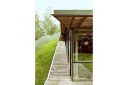 Façade terrasse en bois lambris - Dutch Mountain par Sanne Oomen - Goois, Hollande © oomenontwerpt